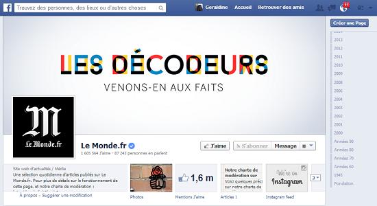 Timeline Facebook Le Monde 2
