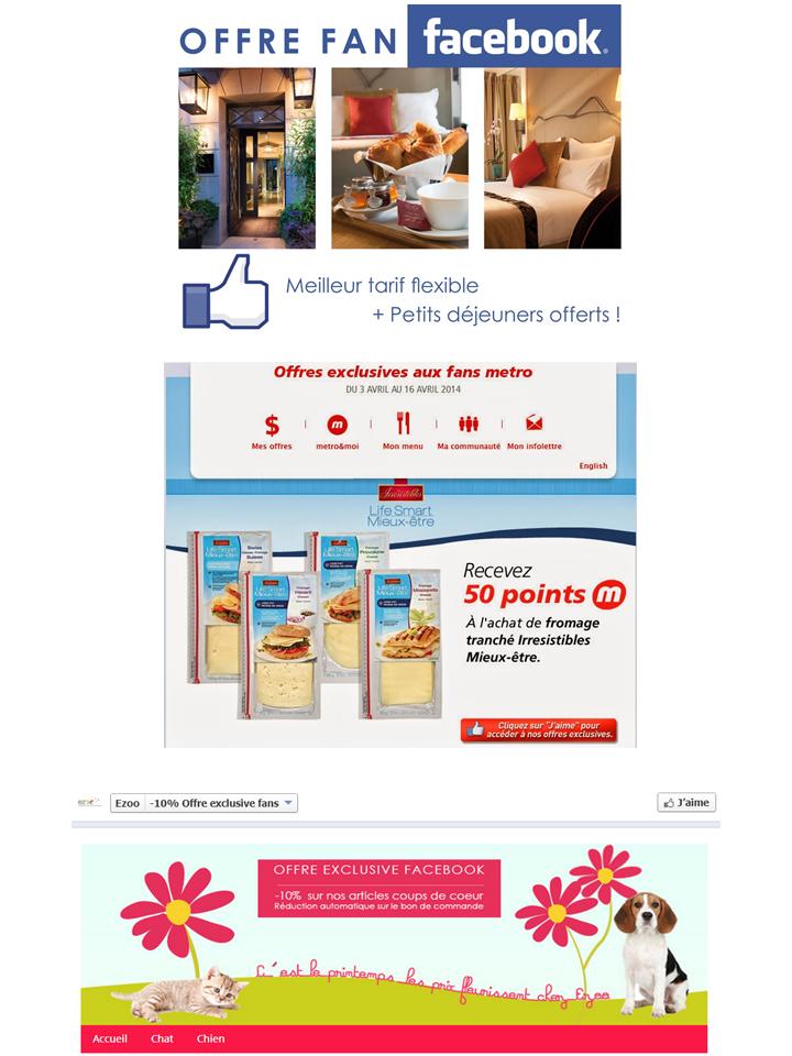 Facebook Offre Exclusive