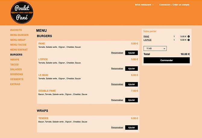 poulet_pane_portfolio_livepepper_online_ordering_site_restaurant