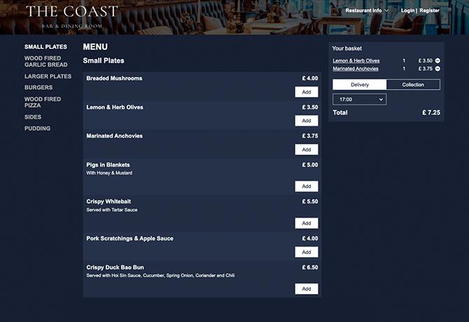 the_coast_bar_dining_room_portfolio_livepepper_online_ordering_site_restaurant