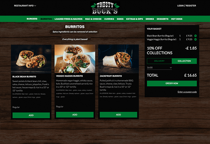 Trusty_Bucks_portfolio_livepepper_online_ordering_site_restaurant