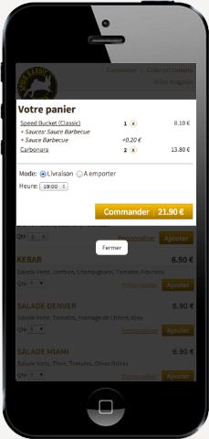 site-internet-restaurant-mobile-panier